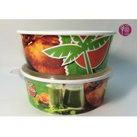 Buy cheap Custom Logo Flexo Print Paper Salad Bowls Disposable 44oz With Lid product