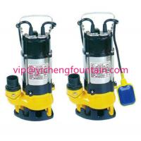 China Single Phase Sewage Submersible Pond Pump With / Without Floating Ball 0.18 - 1.1KW wholesale