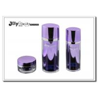 Buy cheap Purple And Silver Border Empty Makeup Containers Capacity 60ml from wholesalers
