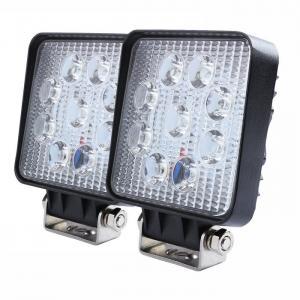 China 27W Square LED Work Light 3W High Power Epistar LEDs Off-road  Flood beam 10-30V 4.3 Slim profile on sale