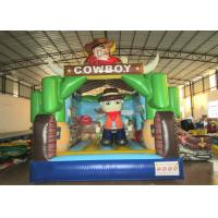 Buy cheap Kindergarten Baby Custom Made Inflatables Cowboy 5 X 4 X 4m Double Stitching product
