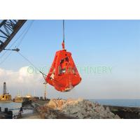 China Red Hydraulic Dredging Grab As Clamshell Shape Bucket With High Stability on sale