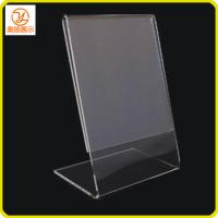 Buy cheap Customized Tabletop L shape acrylic sign holder product