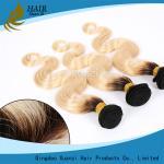 Buy cheap Armure blonde noire de cheveux de Vierge, prolongements de cheveux de vague de corps aucun rejet product