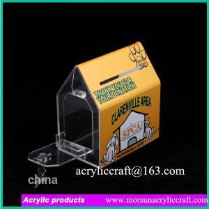 Buy cheap 2015 la maison claire faite sur commande de la nouvelle fantaisie PMMA de conception a formé l'urne, boîte acrylique de donation product