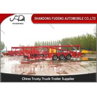 Buy cheap 2 / 3 Axles Hydraulic Car Carrier Trailer 8 To 24 Sets Mechanical Suspension product