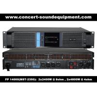 Buy cheap High Output 2x2400W FP 14000 Switching Power Amplifier With NOVER Power from wholesalers