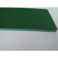 China Green Color Pvc Material Industrial Conveyor Belts With Diamond Pattern on sale