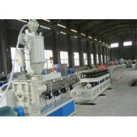 Buy cheap High Speed Corrugated Plastic PE Pipe Manufacturing Machine Pipe Extrusion Line product