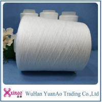 China 100% Polyester Twist Ring Spun Polyester Yarn Raw White Material or Dope Dyed Color on sale