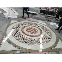 Buy cheap Water Jet Cutting Marble Floor Medallions Interior Luxury Pattern Design product