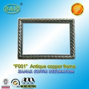 Buy cheap Photo Frame In Zamak Model No. F001 Gold Old Gold Bronze size 12*16.5cm zamak name plate frame product