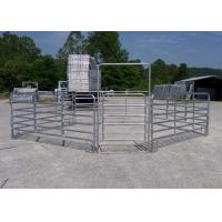 Buy cheap Hot Galvanized Heavy Duty Cattle Panels Horse Fence Panels With 1.8m H X 2.1m L 6 Rails product