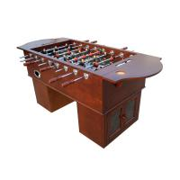 Quality Acier en bois Rods de premier ministre Foosball Table With Solid de Tableau de jeu de football de placage for sale