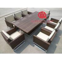 China Fashion Rattan Table Dining Set, high quality rattan dining pool table on sale