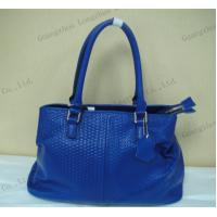China trendy simple design blue plated leather leisure lady handbag on sale