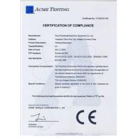 WUXI RONNIEWELL MACHINERY EQUIPMENT CO.,LTD Certifications