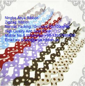 Buy cheap Zigzag Ribbon,Polyester Ribbon,Ricrac Ribbon,Wave Ribbon,Ribbon lace Trimming,Nylon Ribbon,Clothing Accessories product