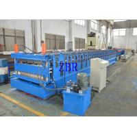 Buy cheap Wall Panel Roll Forming Machine , Tile Roof Making Machine Galvanized Metal Roofing Equipment product