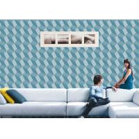 China 3D Effect Geometric Contemporary Wall Covering , 0.53*10M / Roll , Non-Pasted on sale