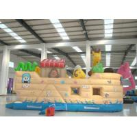 Buy cheap Common Elephant Animals Pirate Ship Inflatable Slide Children cute inflatable Pirate Jump House product