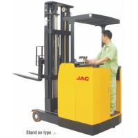 Buy cheap Stand Up High Lift Reach Truck Forklift 1 Ton Low Noise Max Lift Height 6.2m product