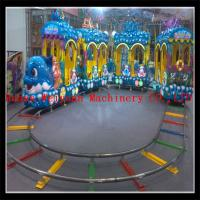 Buy cheap new model 5 couches 18 seats electric track train, under sea world train ride from wholesalers