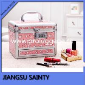 O pvc SACMC052 imprimindo cor-de-rosa bonito personalizou a caixa cosmética