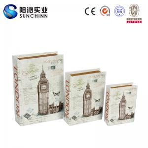 Buy cheap Lona de Muticolored que imprime la caja de libro de la caja de madera/el envase del libro para el almacenamiento product