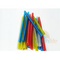 Buy cheap Custom Length Plastic Coil Lanyard Transparent Red Blue Green Yellow Colors from wholesalers