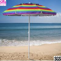 Buy cheap Promotional colourful sandy beach umbrella , sun beach umbrella made in China with best price from wholesalers