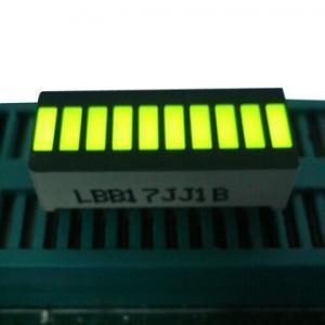 Buy cheap Yellow 10 LED Light Bar , Big 10 Segment Led Display 25.4 x 10.1 x 7.9mm product