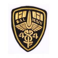 China Laser Cut Boder Military Bullion Badges Washable Embroidered Uniform Patches wholesale