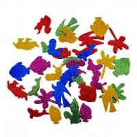 Buy cheap Animal Shape Foam Glitter Stickers Colorful Thick Adhesive product