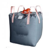 Buy cheap UV Treated Grey Super Sack Bag Flat Bottom / Side Discharge Design Available product
