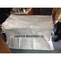 Large Circular / Tubular FIBC white gravel bulk bag OF Polypropylene