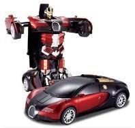 Buy cheap Les transformateurs 4 luttent la voiture à télécommande Bugatti de jouet acousto-optique électrique de robot product