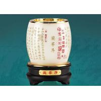Buy cheap Luxury Rotatable Pen Container Colored Glaze Material Made With Wooden Base product