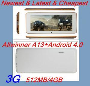 Buy cheap 7 corteza a8 1.5G de Allwinner A13 de la PC de la tableta de Google Android 4,0 de la pulgada product