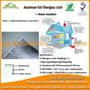 Buy cheap Ткань стеклоткани с алюминиевой фольгой для листа изоляции жары отражательного from wholesalers