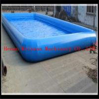 Buy cheap 15*20m PVC0.9mm big water park equipment inflatable swimming pool bubble inflatable pool product