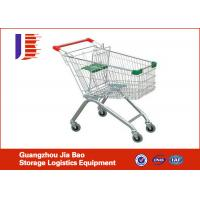 China Professional European Supermarket Shopping Carts , 100L Four Wheeled Shopping Trolley on sale