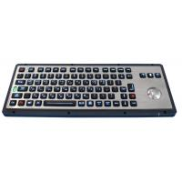 Buy cheap Teclados industriais escovados do trackball do metal do luminoso para industrial & militar product