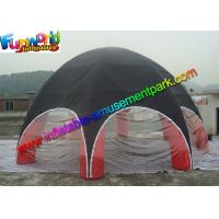 Buy cheap UV-treated PVC Coated Nylon Outdoor Inflatable Party Tent  Red  / Black product