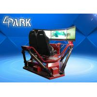 Buy cheap High Speed 3 Screen Virtual Reality Simulator Racing Motion Car 6 Dof 360 Degree driving simulating product