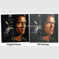 Buy cheap Canvas Human Portrait Painting Hand Brush Strokers For Movie Star product