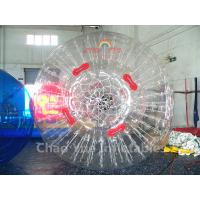 China Commercial Grade Transparent PVC Inflatable Roller Grass Zorb Ball for sports game on sale