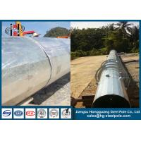 Buy cheap Overlap Conncetion Conical Polygonal Telecomminication Monopole Steel Tubular Pole product