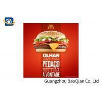 Buy cheap Fast Food Advertising 3D Lenticular Poster Flip Effect Stunning Design For Promotion from wholesalers