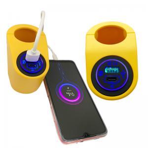 Buy cheap QC 3.0 Car Charger 12V 24V dual USB power socket digital display voltmeter For car Boat yacht bus RV product